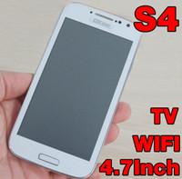 4.7 tv - Free DHL Cheap Unlocked Cell Phone Quad Band GSM Inch Touch Screen Wifi TV Bluetooth Dual SIM i9500 S4