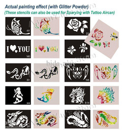 Wholesale Big Size x15cm Tattoo Stencils for Body art Painting Temporary Glitter Tattoo Kit Mi