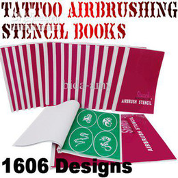 Wholesale FREESHIPPING designs Reusable airbrush temporary tattoo stencils books kit s
