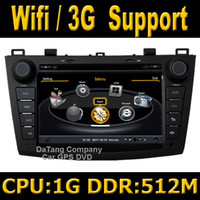 Wholesale S100 Car DVD GPS Head Unit Sat Nav for Mazda with Wifi G Host Radio Stereo Player Tape Recorder G CPU M DDR