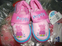 Wholesale Girls Peppa Pig Radar Slippers Pink Infants Size UK Baby Toddler Cartoon Shoes