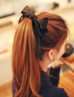Cheap Headband handmade big sweet bow tassel hair rope cloth tousheng hair accessory