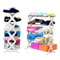 Wholesale Fight stainless steel five gang multifunction shoe rack shoe rack shoe rack simple home storage ideas