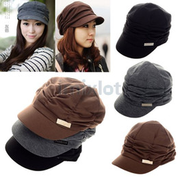 Wholesale Womens Lady Hat Baseball Caps Womens Accessories Slouchy Beanie Cap Fashion Hat Women Hats CW05012