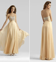 Reference Images Sweetheart Chiffon New Arrival 2014 Elie Saab Dress celebrity Floor-Length Gold A-Line Sweetheart Beaded Crystal Chiffon Evening Gowns Prom Dresses Party Q3