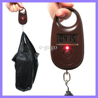 Hanging Scale 10kg-100kg  Max 25kg 5g Mini Hand Held Portable Balance Electronic Fish Hook Weigh Digital Scale with Retail Package Box