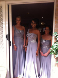2013 On Sale Light Purple Bridesmaid Dresses With New Sequined Long Chiffon One Shoulder Dhyz 01