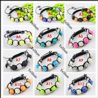 Wholesale 36 Colors Option Hot Sale Resin Rhinestone Beads Hand Weaved Shamballa Bracelets Can Be Customized To Sample