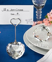 place cards - Factory directly sale Choice Crystal Collection heart design place card holders