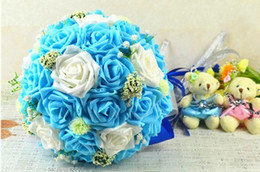 Wholesale Costom Made European Style Wedding Favors Bouquents Artificial Flowers