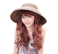 Wholesale Multi colors Beach hat straw summer eaveshat travel sun hat Large Wide Brim B458