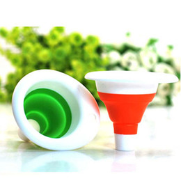 Wholesale Kitchen Gadgets Mini Funnel Silicone Plastic Red Green High Quality