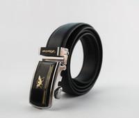 1PCS Black Genuine Leather Automatic Buckle Men Classic Belt...
