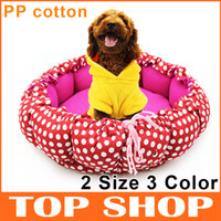 Wholesale Dog Bed Dotted Pumpkin Pet Kennel S L Two Colors Pet Nest Warm Cat Bed