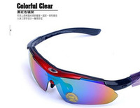 Wholesale 2O15 Outdoor Bicycle Cycling Eyewear Glasses Road Cycling Goggles Sport Sunglasses UV400 Lens Polarized Sporting Sun Glasses Goggles Y226