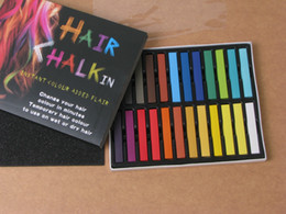 Wholesale 24 Colors Fashion Hot Fast Non toxic Temporary Pastel Hair Dye Color Chalk