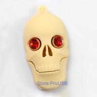 Wholesale Genuine Brand New Rubber Skull USB Drive GB GB GB GB GB GB Memory Flash stick White