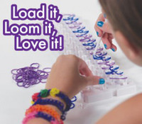 Unisex 12-14 Years Multicolor Wholesale - Genuine rainbow Loom Kit and Tie Dye Rubber Bands Twistz Bands Rainbow Loom Christmas toys 30PCS FAST shipping DHL