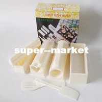 Wholesale Easy Sushi Maker tools in set sushi rice mold with color box kitchen accessories