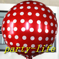 Wholesale 18 inch Polka dots Round shape Foil Balloons For Wedding Party Birthday party