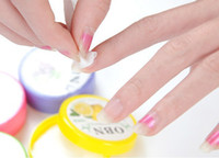 Wholesale 6 Sets Creative Safe Fruit Flaver Nail Art Polish Remover Papers Towels Wipes Pad
