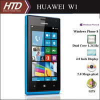 Wholesale Free Case Screen Film Original Huawei W1 Inch HD Display Windows Phone Smart Cell Phone Drop Shipping