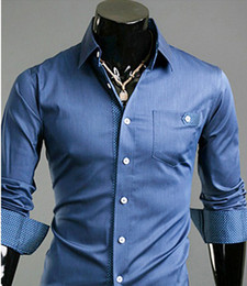 Wholesale NEW Men s casual Slim long Sleeve Shirts Men s shirts Dress Shirts For Men Business Shirts A093