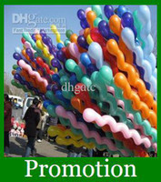 Wholesale Colorful Latex Screw Spiral Balloons Wedding Birthday Party Christmas Kids toys Fast