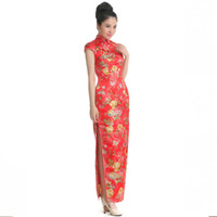 Hot Sale!New Design Luxury and Elegant Silk Slim Chinese Lon...