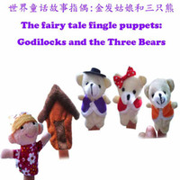 bear tales - Best Toys Hot selling Baby Plush Toy World fairy tale Godilocks and the Three Bears story finger puppets T90234