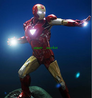 Wholesale Fedex inch Iron Man MK6 GK Resin super bright model Action Figure Toys kg non HT Fighting posture Xmas Gift