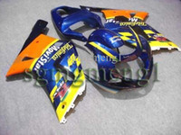Wholesale GSX R600 GSXR750 Telefonica yellow blue Kit Fairing for Suzuki GSXR GSXR750 GSX R K1 ABS Body