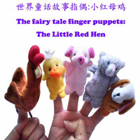 Wholesale NEW Educational toys Fairy tale little red hen Baby Plush Toy Finger Puppets Talking Props T90227