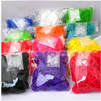 Cord & Wire Chirstmas  2013 fashion Christmas gift colourful Latex Free Silicone rubber Loom Band bands Refill Bags(600pcs+24c-clips) diy bracelets free shipping