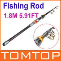 Wholesale 1 M FT Portable Telescope Fishing Rod Travel Spinning Fishing Pole for Outdoor Sports Fish New H9974