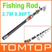 fishing rod - 2 M FT Portable Telescope Fishing Rod Travel Spinning Fishing Pole for Outdoor Sports Fish Rod Tool H9975