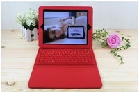 Wholesale Bluetooth Keyboard Wireless Silicone Leather Cover Case For Apple iPad iPad Air mix color AAAA quality