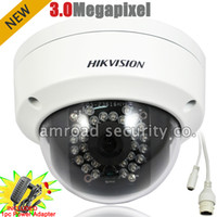 Wholesale 3 Megapixel HIKVISION Mp HD ONVIF Outdoor IP66 Waterproof Dome IR Network IP Camera w mm V A Power Adapter DS CD3132D I
