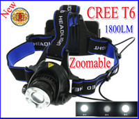 Ultra bright 1800LM CREE XM- L XML T6 LED Headlamp Headlight ...