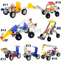 Wholesale New Intelligent DIY Forklift Crane Jeep Agricultural Vehicle Engineering Vehicle Excavator D Puzzle Toy Building Educational Toy Assembled