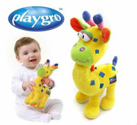 Wholesale Baby Kids Children Soft Stuffed Plush Comfort Squeaky Giraffe Dolls Toys T90203