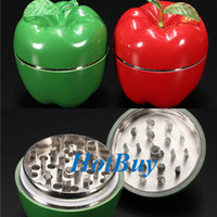 apple crusher - New Metal Apple Shaped Herbal Herb Tobacco Grinder Smoke Crusher hand Muller
