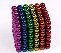 Wholesale Top quality Rainrow Bucky Magnetic Balls Spheres Cube Magic neo cube size mm colours can choice