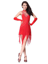 Wholesale Shiny Rhinestone Cotton Blend Dress For Latin Dance pants r66 u13 ksq