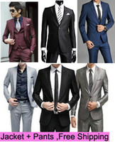 Wholesale Mens Suits Dress Suits Slim Custom Fit Tuxedo Brand Fashion Bridegroon Men s Business Dress Suits Blazer XS XL Jackets Pants EDRESS