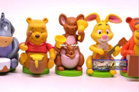 Wholesale New PVC Action Figure Toys cm Winnie the Pooh Tigger ass doll ornaments Movies Video Game Cartoon Christmas Gifts