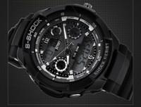 Wholesale Men s Shock Durable Sports Calendar Waterproof Men Led Digital Electronic Wrist Watch Luminous watches Quartz Chronograph Swim Dive watches