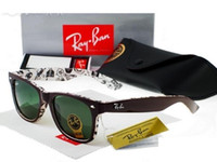Wholesale Hot Selling Men s Woman s Glasses Ray Ban RB WAYFARER Sunglasses Black Frame Green Lens rayban mm