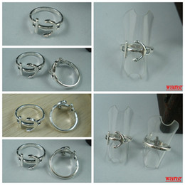 Wholesale Ring Antiqued Silver Anchor Patterns zinc based alloy mm wide Diameter mm Sold per pkg of b68