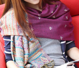 Wholesale Cashmere Scarves Match - gorgeous all matched winter cashmere silk cotton feeling jacqurd Scarf Shawl Wrap Cape Stole 26o grams size 200*70cm #3471